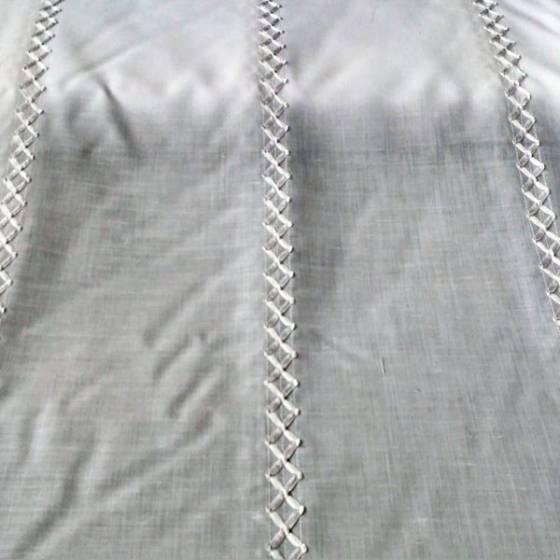 Tendino classico con nastro di raso intrecciato - bianco/grigio