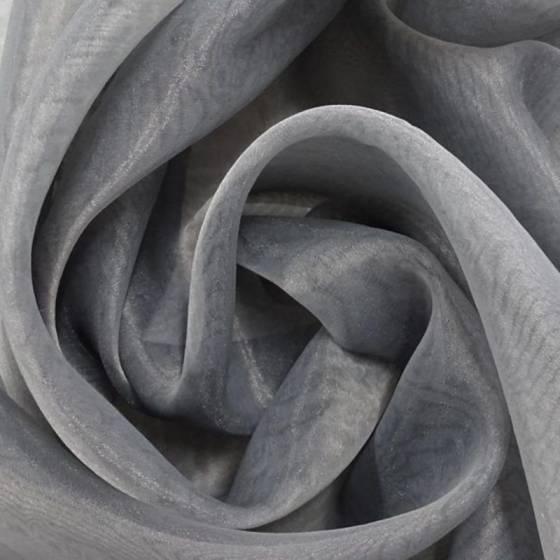 Tessuto per tendaggi velo d'organza trasparente - grigio