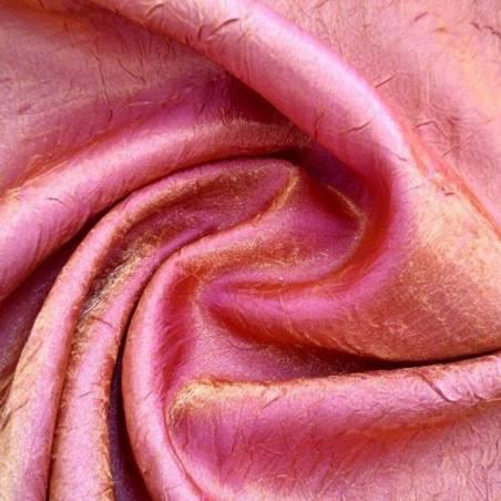 Tendaggio cangiante ad effetto goffrato bordeaux e arancione