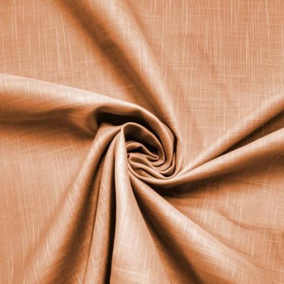 Tessuto per tendaggi effetto lino rustico - arancione tramonto