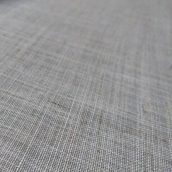 Tessuto per tendaggio misto lino rustico - ecru