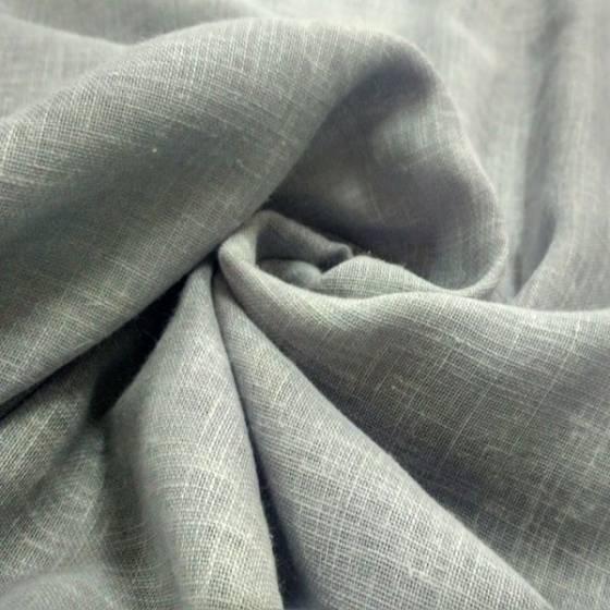 Tessuto per tendaggi misto lino effetto mèlange - grigio chiaro