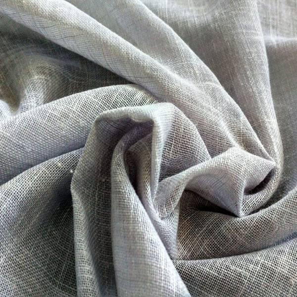 Tendino in misto lino morbido - grigio perla