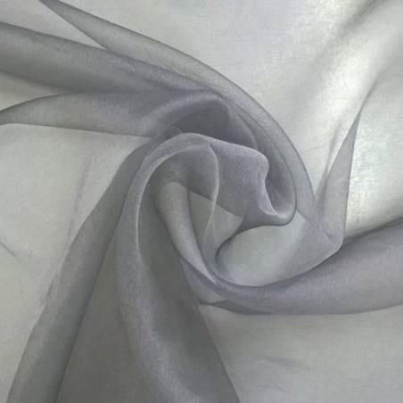 Tessuto per tende in organza - grigio