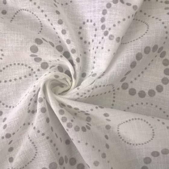 Tessuto tendaggio motivo a cerchi pois - varianti colori