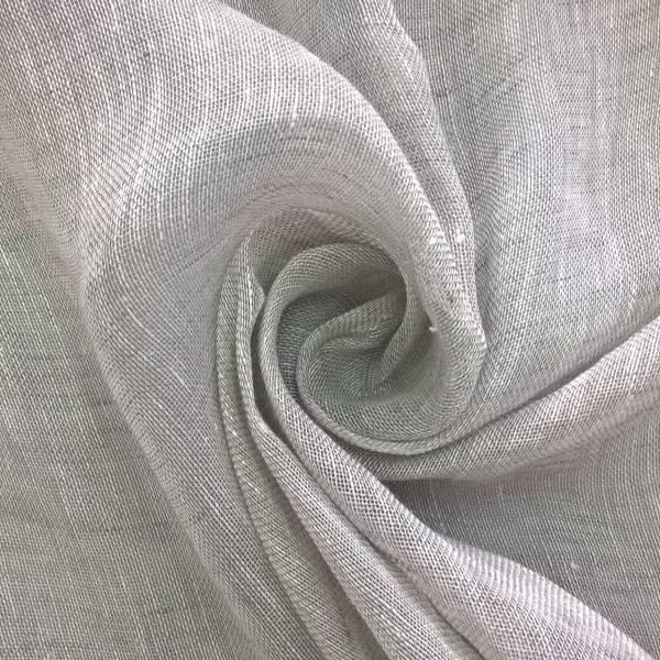 Tessuto per tendaggi in puro lino - argento