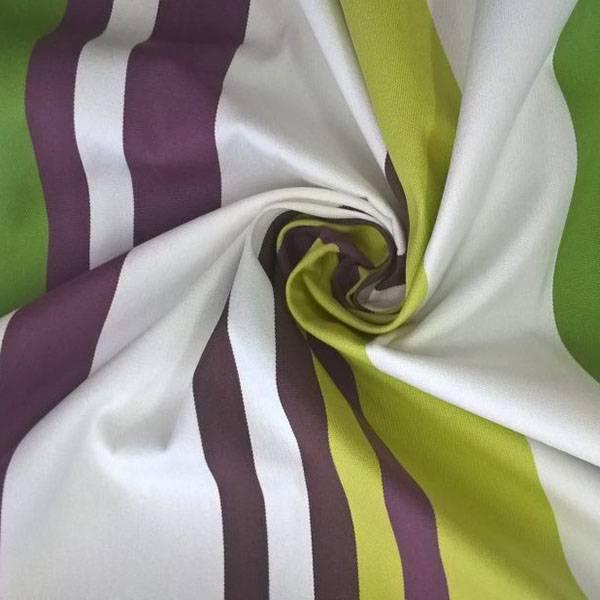 Tessuto per arredo e coperture da esterno resistente a righe - multicolor