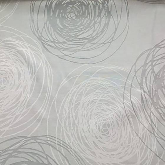 Tendino fantasia a cerchi - bianco