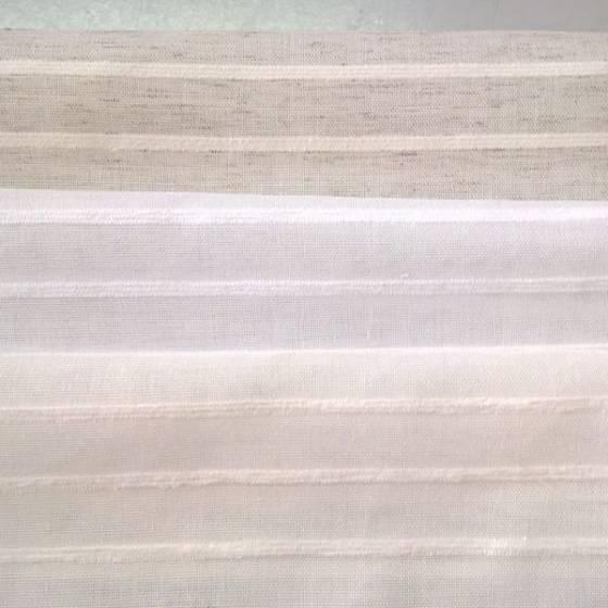Tendino effetto piega righe orizzontali - bianco/beige/panna