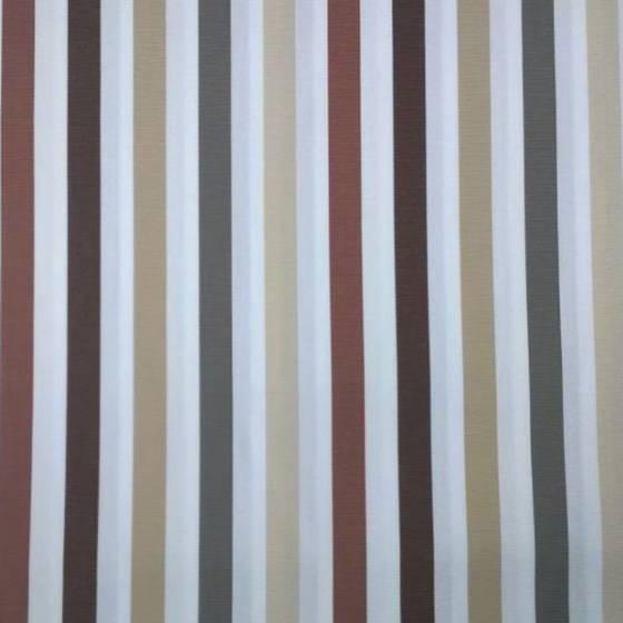 Tessuto arredo da esterno motivo a righe colorate - sfondo bianco