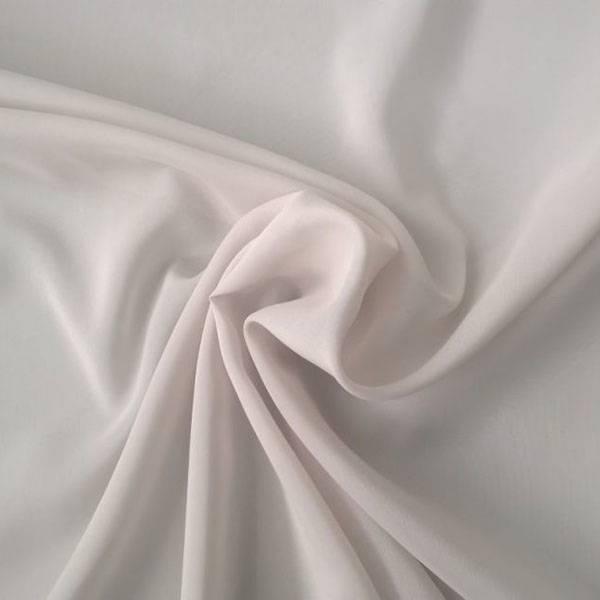 Tessuto per tende in crepe - bianco