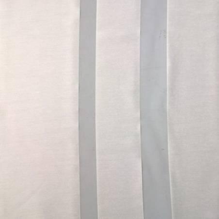 Tendaggio in viscosa fantasia a fasce trasparenti -  bianco