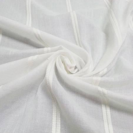 Tessuto per tendaggi a righe verticali - bianco