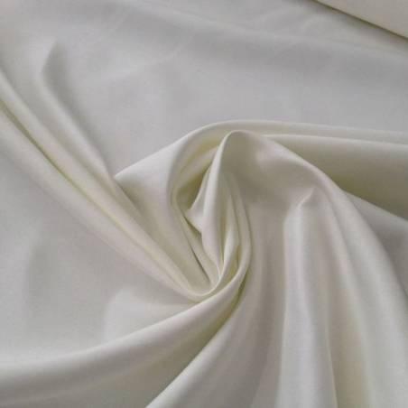 Tessuto in raso liscio con effetto lucido - bianco