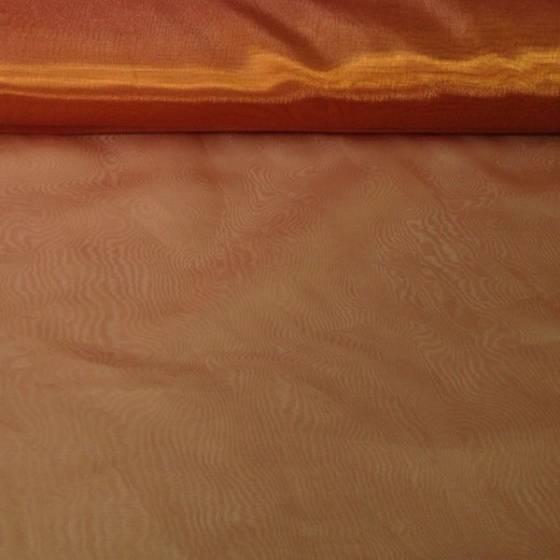 Tessuto tendaggio in organza liscio - oro
