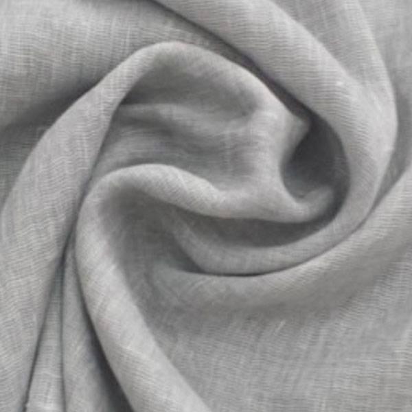 Tendaggio in misto lino ad effetto stropicciato - grigio