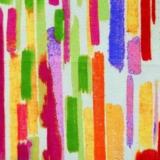 Tessuto per arredo stampato fantasia a pennellate multicolor