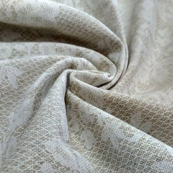 Tessuto per arredamento shabby floreale - panna