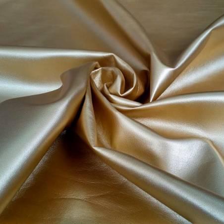 Tessuto per rivestimenti in ecopelle - oro