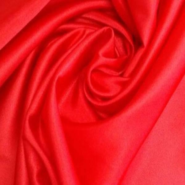 Tessuto per arredamento e addobbi in raso - rosso