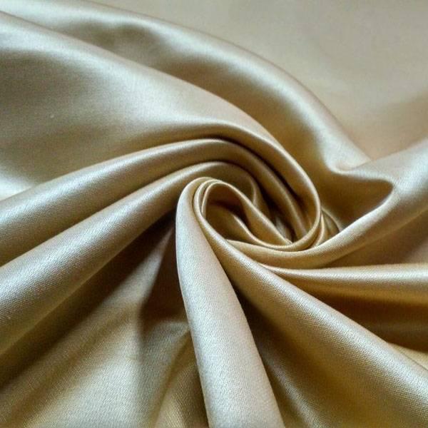 Tessuto in raso pr arredamento brillante - beige