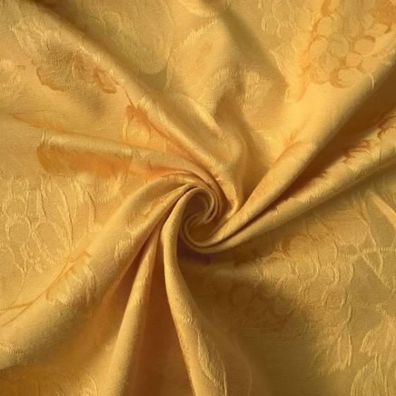 Tessuto per arredo e tovagliato motivo frutta -  oro