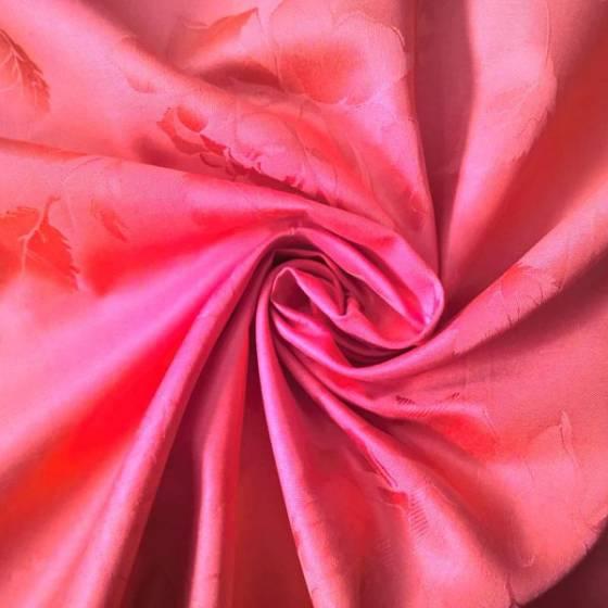 Tessuto per arredo e tovagliato motivo rose - rosso