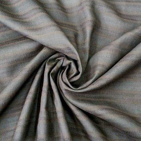 Tessuto boho chic fantasia a righe - marrone