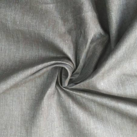 Tessuto in lino sfumato grigio grafite