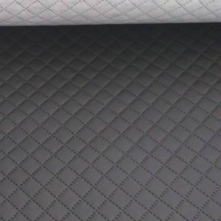 Tessuto per rivestimento trapuntato in ecopelle - nero
