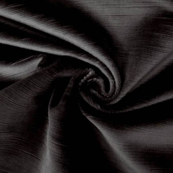 Tessuto per arredo e rivestimento in velluto di cotone - nero