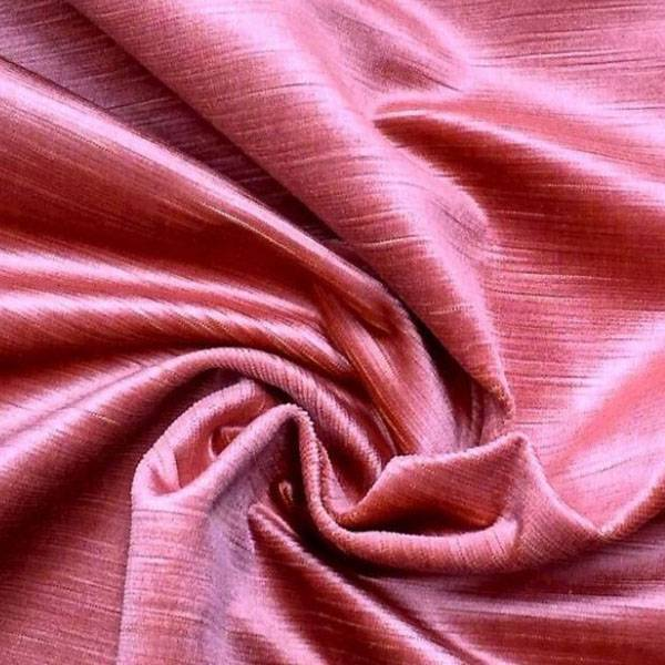 Tessuto per arredo e rivestimento in velluto di cotone - rosa