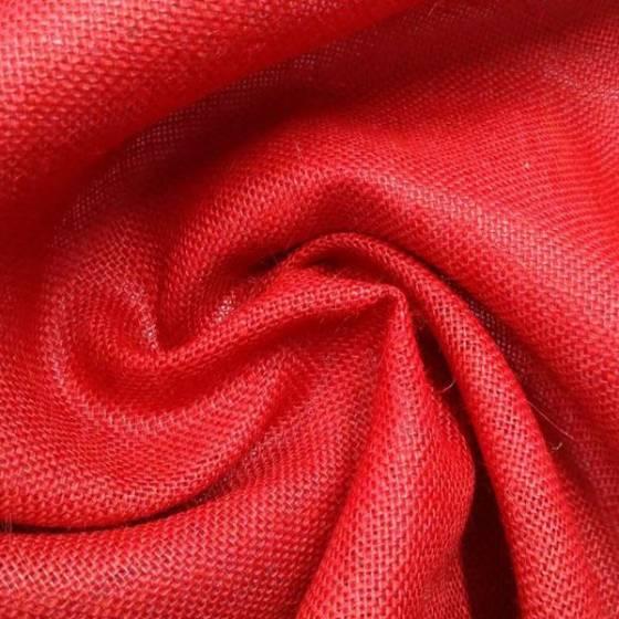 Tessuto arredo in juta - rosso