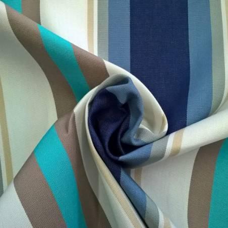 Tessuto per arredo da esterno resistente motivo a righe - multicolor