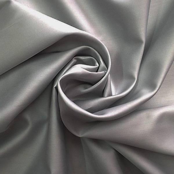 Tessuto arredo in puro rasatello di cotone - grigio