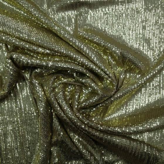 Tessuto per abiti con paillettes - oro