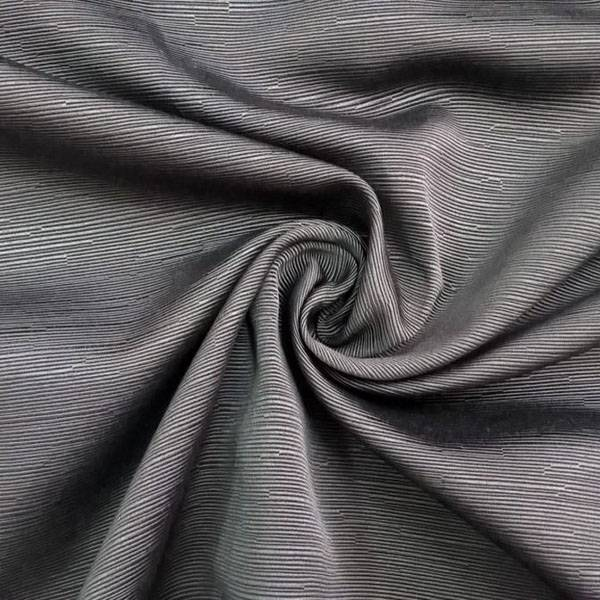 Tessuto per arredo con effetto a righe - nero