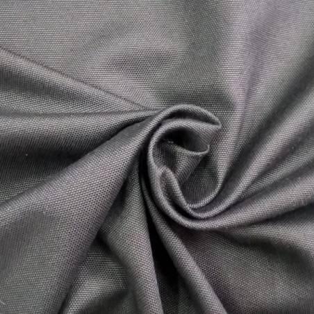 Tessuto arredo panama con trama a vista - nero