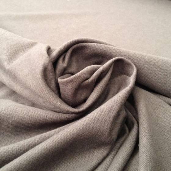 Tessuto in maglina misto cotone leggero - grigio