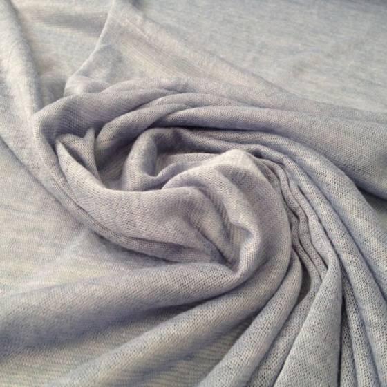 Tessuto in maglina misto cotone leggero - celeste