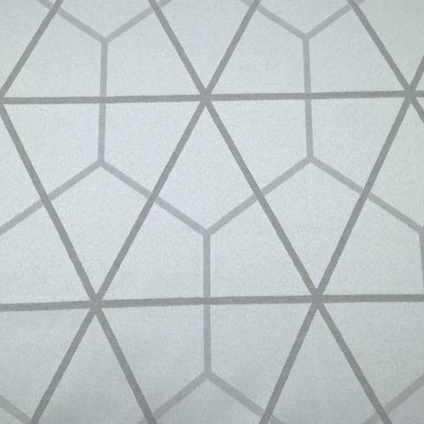 Tessuto per arredo scandinavo motivo geometrico - grigio