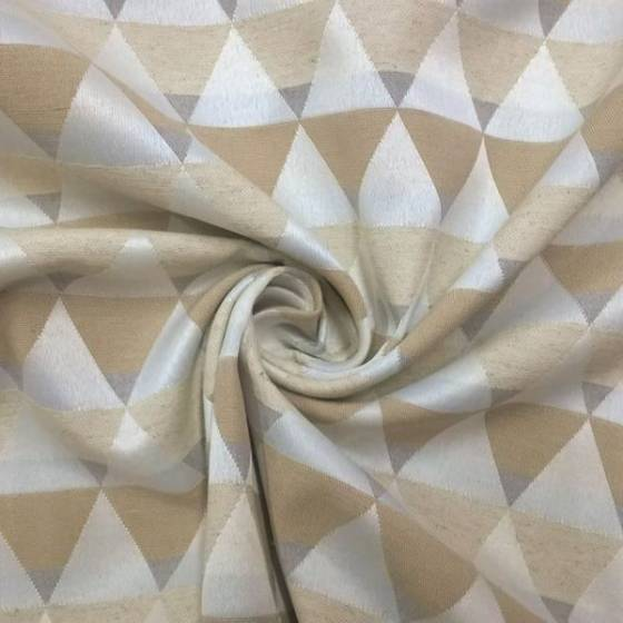 Tessuto per arredo nordico motivo geometrico - beige