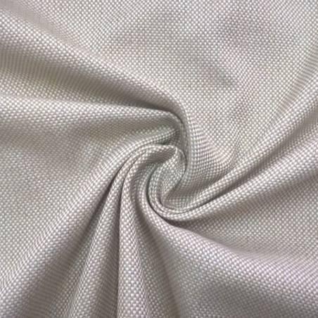 Tessuto per arredo e rivestimento con trama a punti - bianco e tortora
