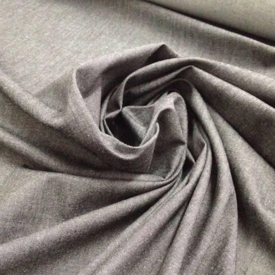 Tessuto misto cotone jeans denim - grigio