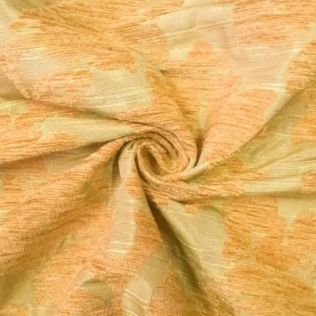 Tessuto arredo fantasia damascato ad effetto cinigliato - oro