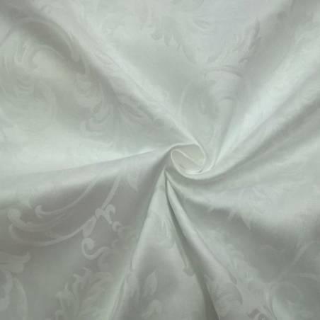 Tessuto elegante damascato in cotone - bianco