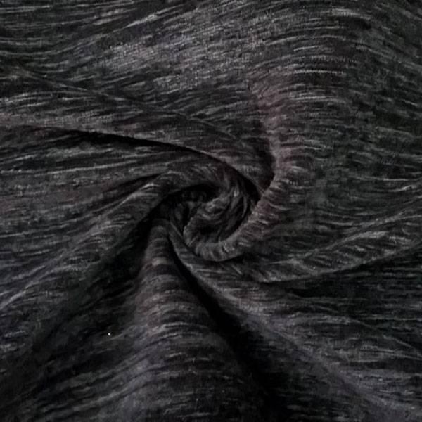 Tessuto in misto cotone ad effetto vellutato - nero