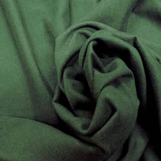 Tessuto per abbigliamento in maglina leggera - verde scuro