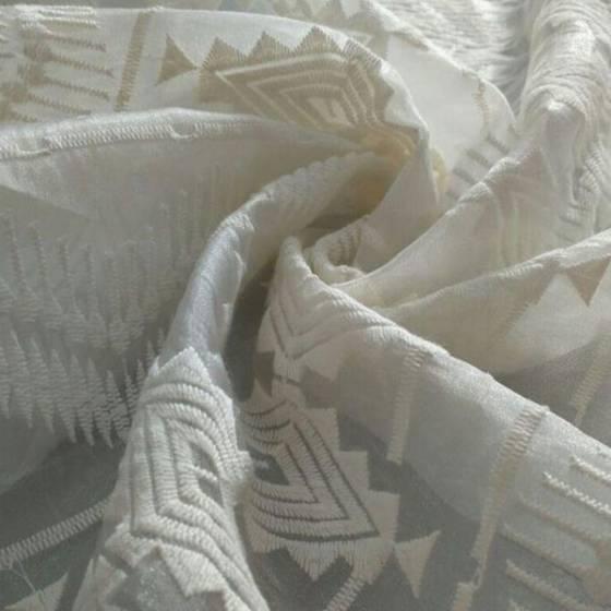 Tessuto in pizzo per abbigliamento stile liberty - bianco