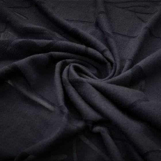 Tessuto per abbigliamento a tema natura notturna - blu